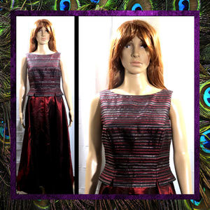 Bold Burgundy Gown by JS Collections  #085